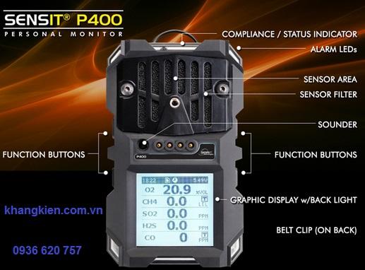 Máy đo khí cá nhân đa chỉ tiêu SENSIT P400 - 0936 620 757 - khangkien.com.vn