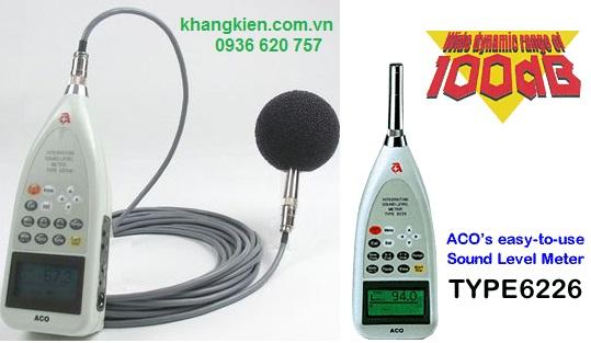 Máy đo tiếng ồn, có bộ nhớ lưu dữ liệu ACO 6226 - khangkien.com.vn