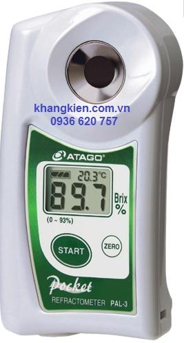 Máy khúc xạ kế đo Brix Atago PAL-3 - Atago - khangkien.com.vn
