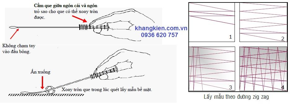 Cách Sử Dụng Que SWAB Bề Mặt 3M Clean - Trace Surface - khangkien.com.vn - 0936 620 757