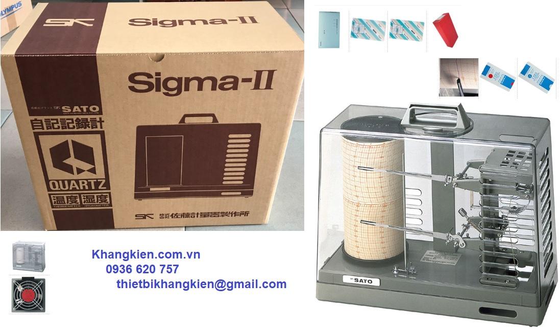 Máy ghi nhiệt độ độ ẩm Sato sigma ii 7210 - khangkien.com.vn - 0936 620 757
