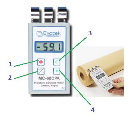 Hướng dẫn sử dụng máy đo độ ẩm giấy EXOTEK MC-60CPA - khangkien.com.vn - 0936 620 757