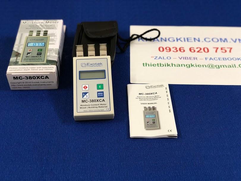 Máy đo độ ẩm gỗ và vật liệu Exotek MC-380XCA - khangkien.com.vn