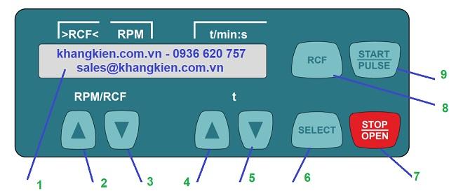 Màn hình điều khiển máy ly tâm eba200