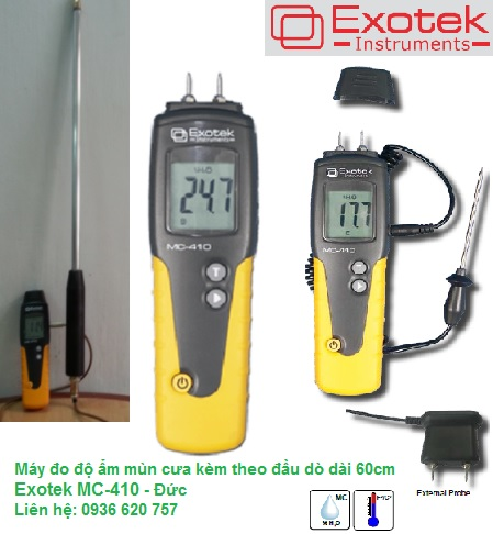 Máy đo độ ẩm mùn cưa kèm theo đầu dò dài 60cm - khangkien.com.vn - 0936 620 757