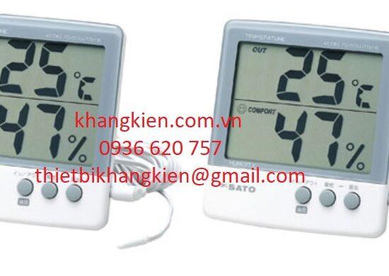 HDSD đồng hồ độ ẩm nhiệt độ SATO PC-5000TRH II