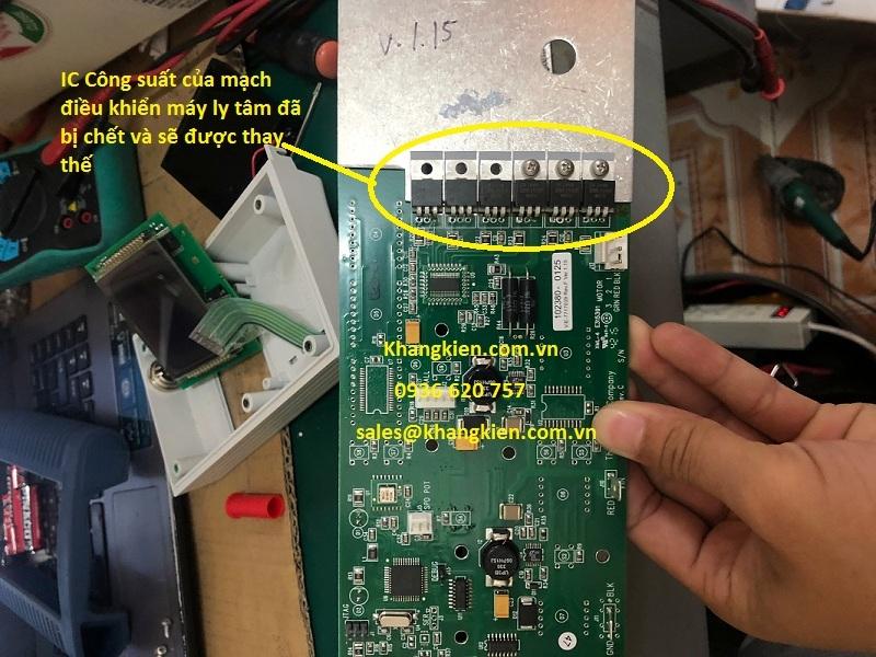 Thay thế IC công suất cho máy ly tâm